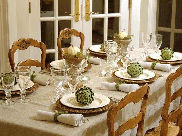 white with artichokes